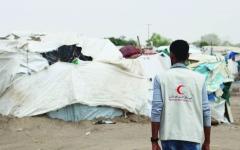 الصورة: الصورة: الإمارات تغيث 1850 أسرة من متضرري سيول اليمن