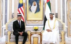 الصورة: الصورة: محمد بن زايد: الإمارات تؤمن بالعمل المشترك لتحقيق التنمية والسلام