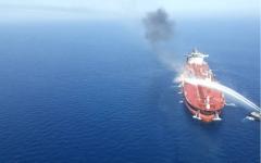 الصورة: الصورة: شركة فرنتلاين: إخماد الحريق في فرنت ألتير والناقلة مستقرة
