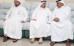 الصورة: الصورة: حاكم عجمان يعزّي في وفاة علي الشامسي