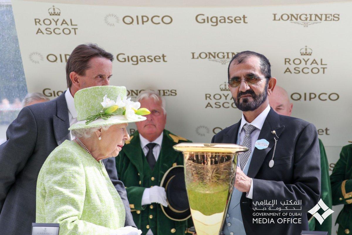 نتيجة بحث الصور عن محمد بن راشد والملكة إليزابيث