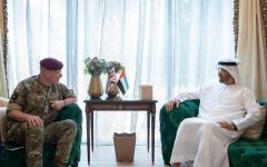 الصورة: الصورة: محمد بن زايد يستقبل كبير مستشاري وزارة الدفاع البريطانية للشرق الأوسط