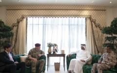 الصورة: الصورة: محمد بن زايد يبحث التعاون العسكري مع كبير مستشاري وزارة الدفاع البريطانية للشرق الأوسط