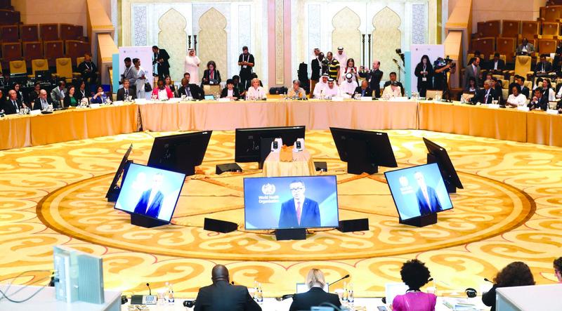 الصورة : جانب من جلسة اجتماع وزراء الصحة والوزراء المعنيين بالمناخ في العالم  |  تصوير: سيف الكعبي