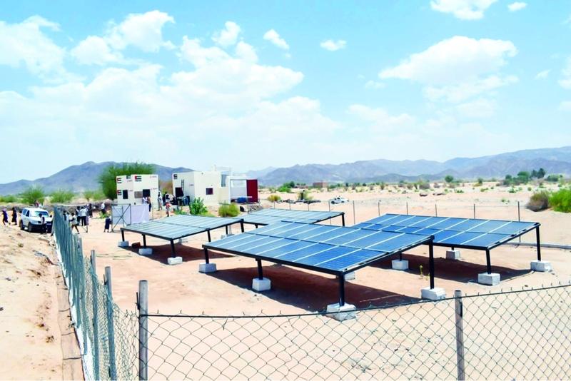 الصورة : ■ تدشين وحدة ضخ المياه بالطاقة الشمسية في شبوة  |  وام