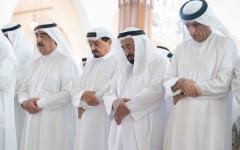 الصورة: الصورة: بالصور والفيديو..تشييع خالد بن سلطان بن محمد القاسمي إلى مثواه الأخير