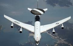الصورة: الصورة: اندلاع النيران في طائرة تجسس أمريكية أثناء التحليق