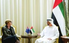 الصورة: الصورة: محمد بن زايد يبحث التعاون مع وزيرة الدفاع الأسترالية