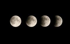 الصورة: الصورة: خسوف جزئي للقمر في الإمارات