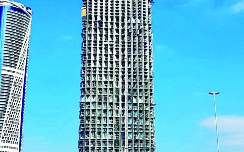 الصورة: الصورة: %65 نسبة الإنجاز في برج «إس إل إس»