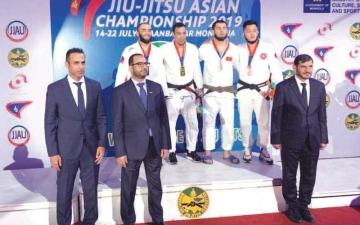 الصورة: الصورة: 4 ميداليات لـ«جوجيتسو الإمارات»  في افتتاح «الآسيوية»
