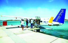 الصورة: الصورة: إطلاق رحلات طائرة مائية في جزيرة ياس
