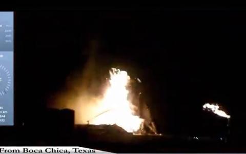 """الصورة: الصورة: شاهد.. انفجار عربة """"سبيس إكس"""" المعدّة للمريخ"""