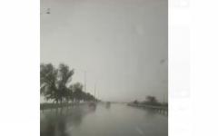 الصورة: الصورة: بالفيديو.. أمطار الخير على مدينة العين