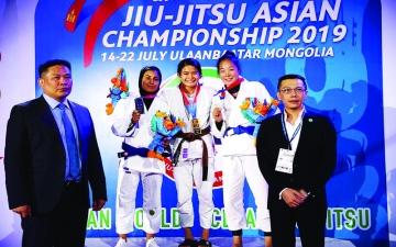 الصورة: الصورة: منتخبنا على عرش آسيوية الجوجيتسو بـ 11 ميدالية