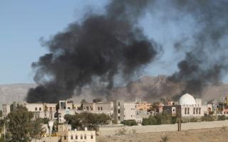 الصورة: الصورة: التحالف يدمّر 6 مواقع عسكرية في صنعاء