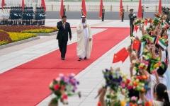 الصورة: الصورة: محمد بن زايد يصل قاعة الشعب الكبرى في العاصمة بكين