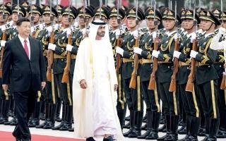 الصورة: الصورة: محمد بن زايد: الإمارات والصين ماضيتـان بمسيرة تعاونهما نحو المستقبل الواعد