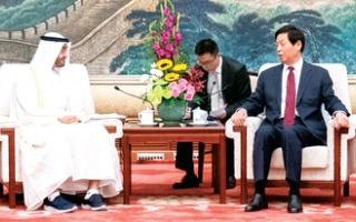 الصورة: الصورة: محمد بن زايد: الإمارات حريصة على تعزيز الصداقة والتعاون مع الصين رسمياً وشعبياً