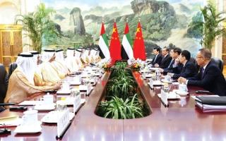 الصورة: الصورة: محمد بن زايد: الإمارات والصين تمتلكان إمكانات وفرصاً كبيرة للتعاون التجاري والاستثماري