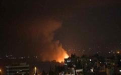 الصورة: الصورة: قصف إسرائيلي يطال مواقع للجيش السوري في درعا