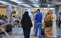 الصورة: الصورة: 31 جريحاً يمنياً يغادرون عدن لتلقي العلاج في الهند على نفقة الإمارات