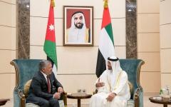 الصورة: الصورة: محمد بن زايد يستقبل ملك الأردن ويبحث معه تعزيز العلاقات الأخوية