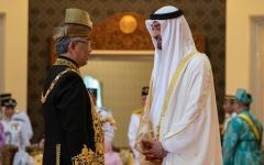 الصورة: الصورة: بالصور..محمد بن زايد يحضر مراسم  تنصيب ملك ماليزيا