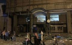 الصورة: الصورة: تشييع 17 مصرياً من عائلة واحدة قتلوا في انفجار معهد الأورام