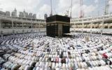 الصورة: الصورة: الكعبة المشرَّفة .. بناء شامخ في قلب المسجد الحرام