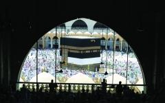 الصورة: الصورة: حجاج بيت الله إلى منى لقضاء يوم التروية