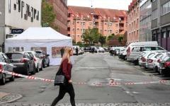 الصورة: الصورة: السطات الدنماركية تبحث عن هارب من موقع انفجار مركز الشرطة