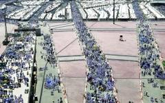 الصورة: الصورة: قدرة تنظيمية فائقة في إدارة حشود جمرة العقبة