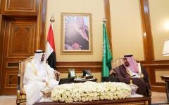 الصورة: الصورة: محمد بن زايد: السعودية هي الركيزة الأساسية لأمن المنطقة واستقرارها وصمام أمانها