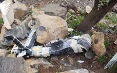 الصورة: الصورة: التحالف: ميليشيا الحوثي أطلقت طائرة مسيرة وسقطت على المدنيين في عمران