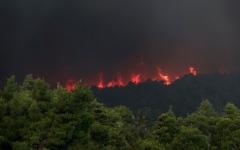الصورة: الصورة: شاهد.. الحرائق تستعر في جزيرة إيفيا اليونانية