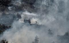 """الصورة: الصورة: """"كارثة بيئية"""" في جزيرة إيفيا اليونانية بسبب حريق مدمر"""