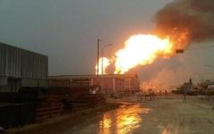 الصورة: الصورة: انفجار خط أنابيب للغاز في العراق يوقف إمدادات لمحطة كهرباء