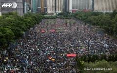 """الصورة: الصورة: شاهد.. """"مليونية"""" سلمية مناهضة لحكومة هونغ كونغ"""