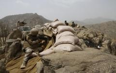 الصورة: الصورة: التحالف: الحدود السعودية مقبرة للمعتدين
