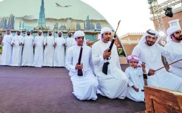 الصورة: الصورة: 50 ألف زائر لجناح الإمارات في «سوق عكاظ»