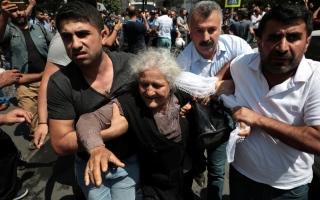 الصورة: الصورة: الشرطة التركية تقمع احتجاجات كردية