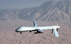 الصورة: الصورة: إسقاط طائرة مسيرة أمريكية فوق اليمن