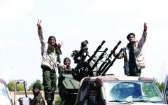 الصورة: الصورة: عشرات القتلى في صفوف الميليشيات جنوبي طرابلس الليبية