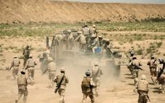 الصورة: الصورة: مخازن «الحشد» تحاصر «الحياد» العراقي