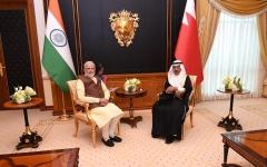 """الصورة: الصورة: البحرين والهند تتفقان على الارتقاء بعلاقاتهما إلى مستوى """"الشراكة الاستراتيجية"""""""