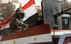 الصورة: الصورة: الجيش السوري يسيطر على بلدة التمانعة بريف إدلب
