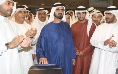 الصورة: الصورة: محمد بن راشد: مترو دبي ركيزة مهمة لبنيتنا الأساسية ومشروع حضاري يخدم المجتمع