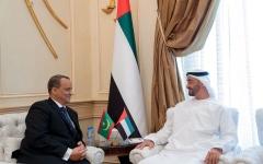 الصورة: الصورة: محمد بن زايد يستقبل وزير الخارجية الموريتاني