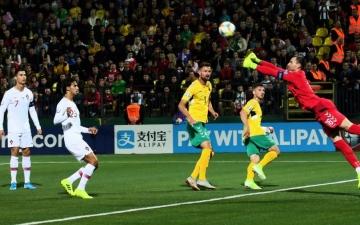 الصورة: الصورة: سوبر هاتريك رونالدو يقود البرتغال للفوز 5-1 على ليتوانيا